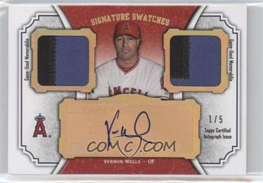 2012 Topps Museum Collection Signature Swatches Autograph Dual Relics Gold Rainbow #SSADR-VW - Vernon Wells /5