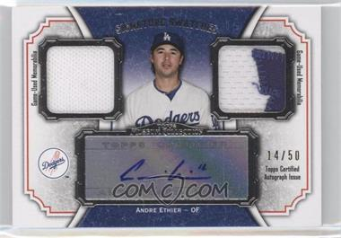 2012 Topps Museum Collection Signature Swatches Autograph Dual Relics #SSADR-AE - Andre Ethier /50