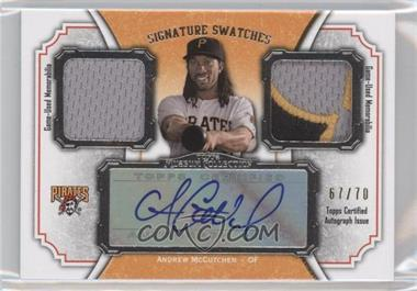 2012 Topps Museum Collection Signature Swatches Autograph Dual Relics #SSADR-AM - Andrew McCutchen /70