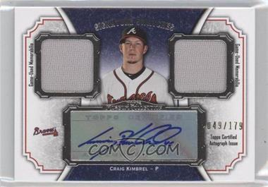 2012 Topps Museum Collection Signature Swatches Autograph Dual Relics #SSADR-CK - Craig Kimbrel /179