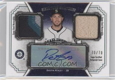 2012 Topps Museum Collection Signature Swatches Autograph Dual Relics #SSADR-DA - Dustin Ackley /70