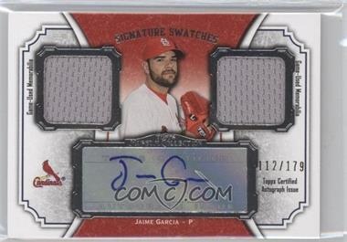 2012 Topps Museum Collection Signature Swatches Autograph Dual Relics #SSADR-JG - Jaime Garcia /179