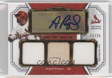 2012 Topps Museum Collection Signature Swatches Autograph Triple Relics Gold #SSATR-AP - Albert Pujols /25