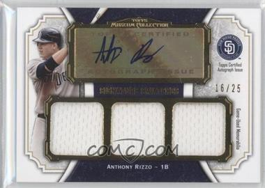 2012 Topps Museum Collection Signature Swatches Autograph Triple Relics Gold #SSATR-AR - Anthony Rizzo /25