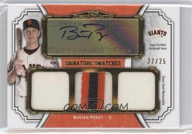 2012 Topps Museum Collection Signature Swatches Autograph Triple Relics Gold #SSATR-BP - Buster Posey /25