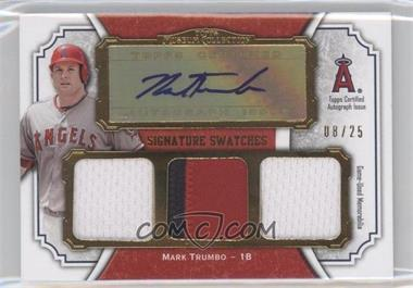 2012 Topps Museum Collection Signature Swatches Autograph Triple Relics Gold #SSATR-MT - Mark Trumbo /25