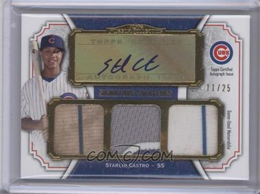 2012 Topps Museum Collection Signature Swatches Autograph Triple Relics Gold #SSATR-SC - Starlin Castro /25