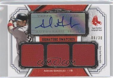 2012 Topps Museum Collection Signature Swatches Autograph Triple Relics #SSATR-AG - Adrian Gonzalez /30