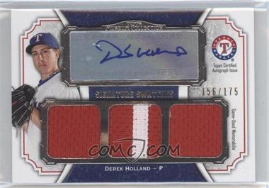 2012 Topps Museum Collection Signature Swatches Autograph Triple Relics #SSATR-DH - Derek Holland /175