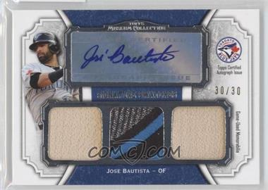 2012 Topps Museum Collection Signature Swatches Autograph Triple Relics #SSATR-JB - Jose Bautista /30