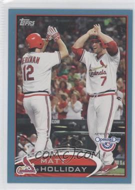 2012 Topps Opening Day - [Base] - Blue #78 - Matt Holliday /2012