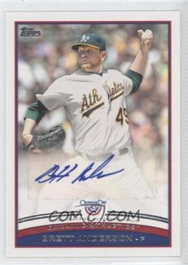2012 Topps Opening Day Autographs #ODA-8 - Brett Anderson