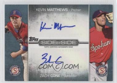 2012 Topps Pro Debut - Side by Side Dual Autographs #SSA-MC - Zach Cone, Kevin Matthews /50