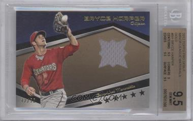 2012 Topps Pro Debut Minor League Baseball Materials Gold #MLM-BH - Bryce Harper /50 [BGS 9.5]