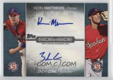 2012 Topps Pro Debut Side by Side Dual Autographs #SSA-MC - Zach Cone, Kevin Matthews /50