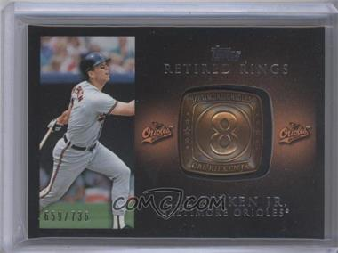 2012 Topps Retired Rings #RR-CR - Cal Ripken /736