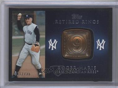 2012 Topps Retired Rings #RR-RM - Roger Maris /736