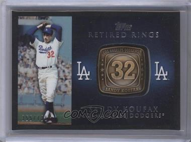 2012 Topps Retired Rings #RR-SK - Sandy Koufax /736