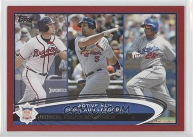 2012 Topps Target Red Border #192 - Albert Pujols, Andruw Jones