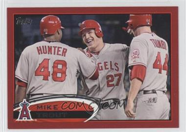 2012 Topps Target Red Border #446 - Mike Trout