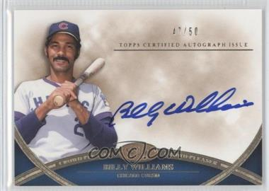 2012 Topps Tier One - Crowd-Pleaser Autographs - [Autographed] #CPA-BW - Billy Williams /50