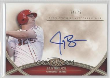 2012 Topps Tier One - Crowd-Pleaser Autographs - [Autographed] #CPA-JB - Jay Bruce /75