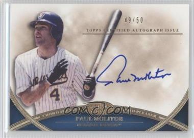 2012 Topps Tier One - Crowd-Pleaser Autographs - [Autographed] #CPA-PM - Paul Molitor /50