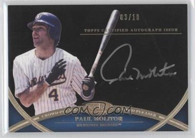 2012 Topps Tier One - Crowd-Pleaser Autographs - Silver Ink [Autographed] #CPA-PM - Paul Molitor /10