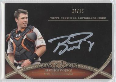2012 Topps Tier One - Crowd-Pleaser Autographs - White Ink [Autographed] #CPA-BPO - Buster Posey /25