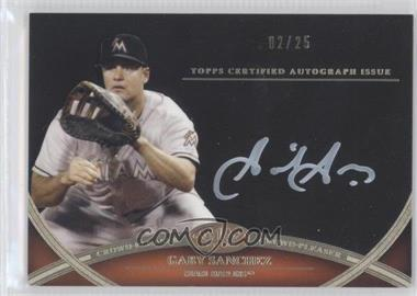 2012 Topps Tier One - Crowd-Pleaser Autographs - White Ink [Autographed] #CPA-N/A - Gaby Sanchez /25
