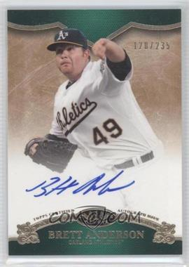 2012 Topps Tier One - On the Rise Autograph - [Autographed] #OR-BAN - Brett Anderson /235