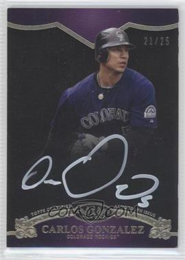 2012 Topps Tier One - On the Rise Autograph - White Ink [Autographed] #OR-CGO - Carlos Gonzalez /25