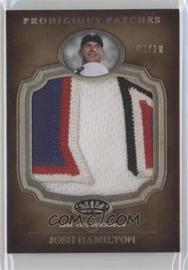 2012 Topps Tier One - Prodigious Patches #PP-JH - Josh Hamilton /10
