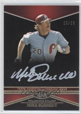 2012 Topps Tier One - Top Tier Autograph - White Ink #TTA-MS - Mike Schmidt /25