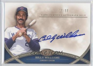 2012 Topps Tier One Crowd-Pleaser Autographs [Autographed] #CPA-BW - Billy Williams /50