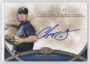 2012 Topps Tier One Crowd-Pleaser Autographs [Autographed] #CPA-CJ - Chipper Jones /50