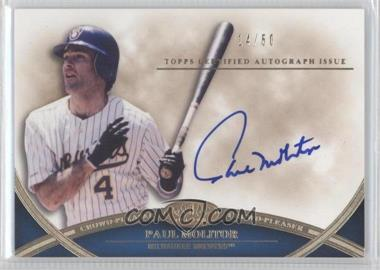 2012 Topps Tier One Crowd-Pleaser Autographs [Autographed] #CPA-PM - Paul Molitor /50