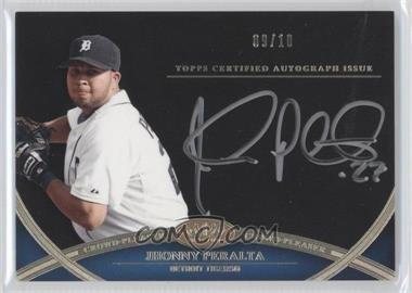 2012 Topps Tier One Crowd-Pleaser Autographs Silver Ink [Autographed] #CPA-JPE - Jhonny Peralta /10