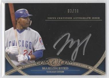 2012 Topps Tier One Crowd-Pleaser Autographs Silver Ink [Autographed] #CPA-MBY - Marlon Byrd /10