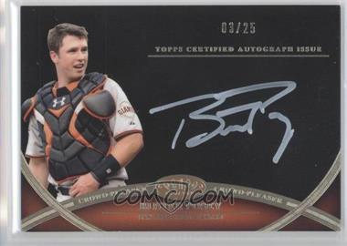 2012 Topps Tier One Crowd-Pleaser Autographs White Ink [Autographed] #CPA-BPO - Buster Posey /25