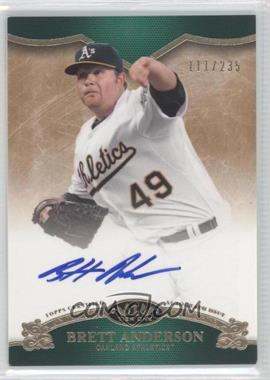 2012 Topps Tier One On the Rise Autograph [Autographed] #OR-BAN - Brett Anderson /235