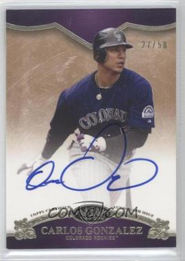 2012 Topps Tier One On the Rise Autograph [Autographed] #OR-CGO - Carlos Gonzalez /50