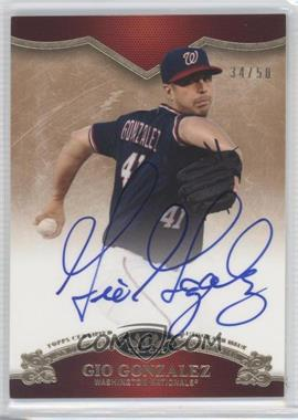 2012 Topps Tier One On the Rise Autograph [Autographed] #OR-GG - Gio Gonzalez /50