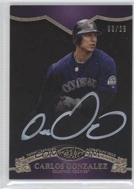 2012 Topps Tier One On the Rise Autograph White Ink [Autographed] #OR-CGO - Carlos Gonzalez /25