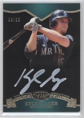 2012 Topps Tier One On the Rise Autograph White Ink [Autographed] #OR-KSE - Kyle Seager /25