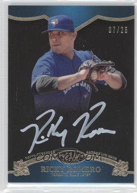 2012 Topps Tier One On the Rise Autograph White Ink [Autographed] #OR-RR - Ricky Romero /25
