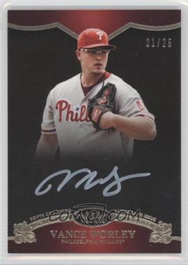 2012 Topps Tier One On the Rise Autograph White Ink [Autographed] #OR-VW - Vance Worley /25