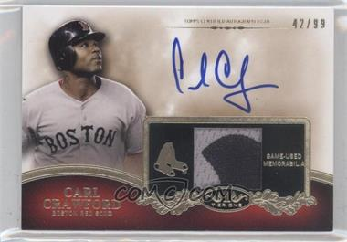 2012 Topps Tier One Top Shelf Autographed Relics [Autographed] #TSAR-CC - Carl Crawford /99