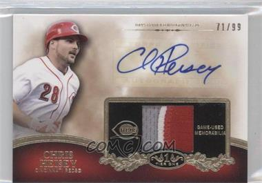 2012 Topps Tier One Top Shelf Autographed Relics [Autographed] #TSAR-CH - Chris Heisey /99