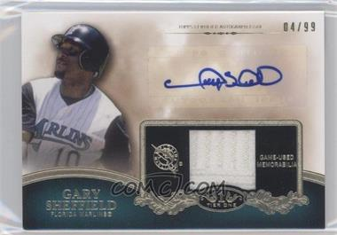 2012 Topps Tier One Top Shelf Autographed Relics [Autographed] #TSAR-GS - Gary Sheffield /99